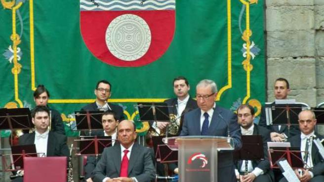 Intervención de Palacio durante la celebración del 29 Aniversario del Estatuto d