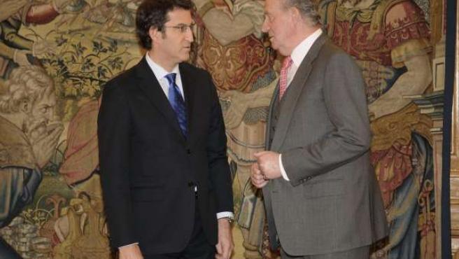 El Rey con Alberto Núñez Feijóo
