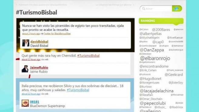 Comentario de David Bisbal en Twitter.