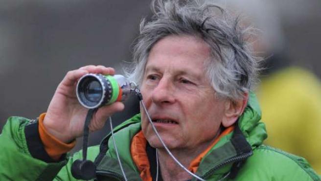 Roman Polanski durante el rodaje de 'El escritor'.
