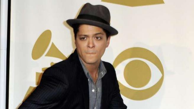 Bruno Mars, tras su nominación a los últimos Premios Grammy.