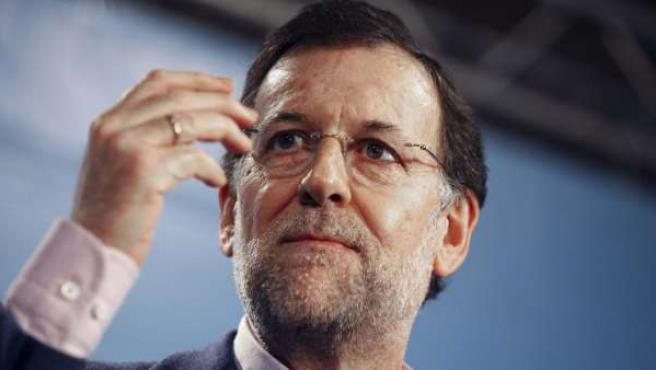 El presidente del Partido Popular, Mariano Rajoy, en un acto del jueves.