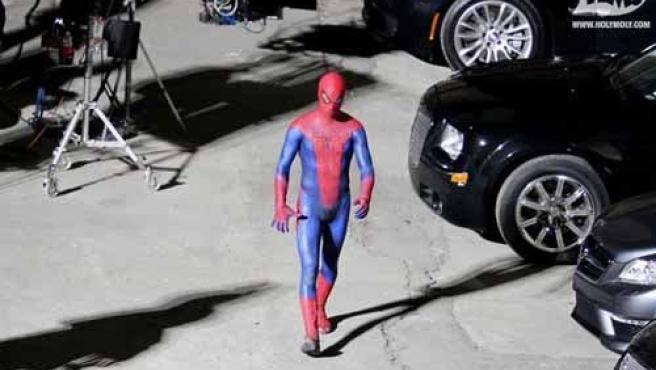 Fotos robadas del rodaje de 'Spiderman'