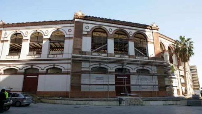 Fachada de la plaza de toros La Malagueta
