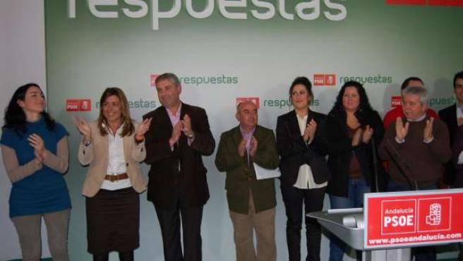 PSOE De Andalucia: Nota Y Foto Susana Díaz En Olivares