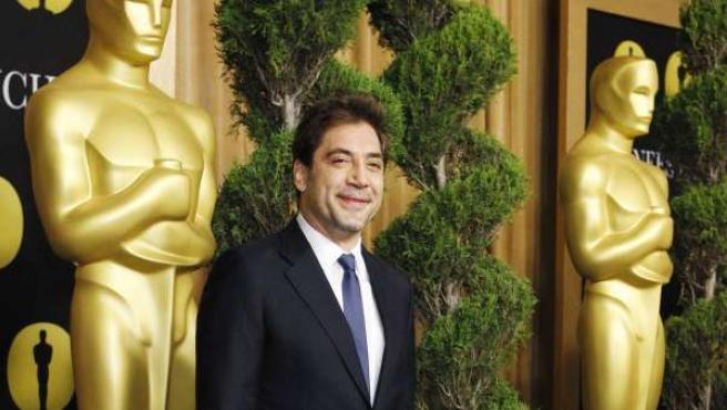 El actor Javier Bardem, poco antes de la comida de los nominados a los Oscar.