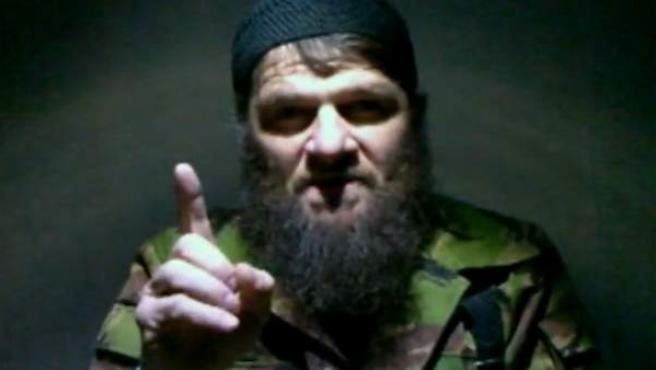 El rebelde checheno Doku Umarov, responsable de la matanza del aeropuerto de Moscú.