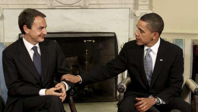 Zapatero y Obama se reunieron el 13 de octubre de 2009 en la Casa Blanca.