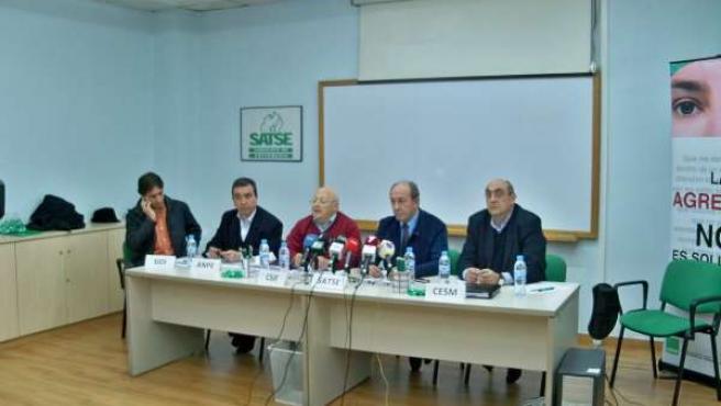 Los representantes de SIDI, ANPE, CSI-F, SATSE Y CESM