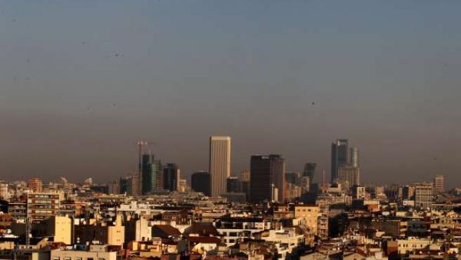 Imagen de la contaminación en Madrid