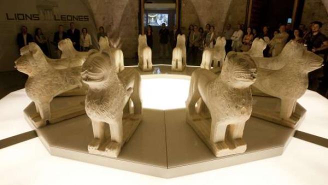 Imagen de Los Leones de la Alhambra, que han vuelto a los Palacios Nazaríes desp