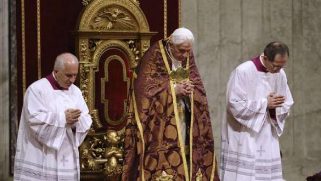 El Papa, durante una ceremonia.