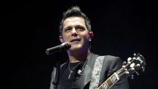 Alejandro Sanz, durante un concierto en 2010.