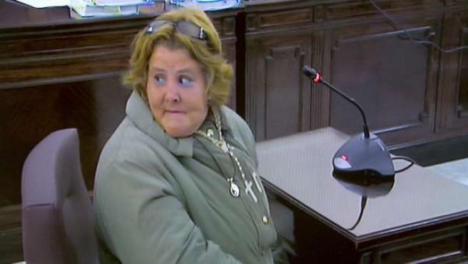 Imagen tomada durante la declaración de Isabel García, esposa del acusado Santiago Del Valle.