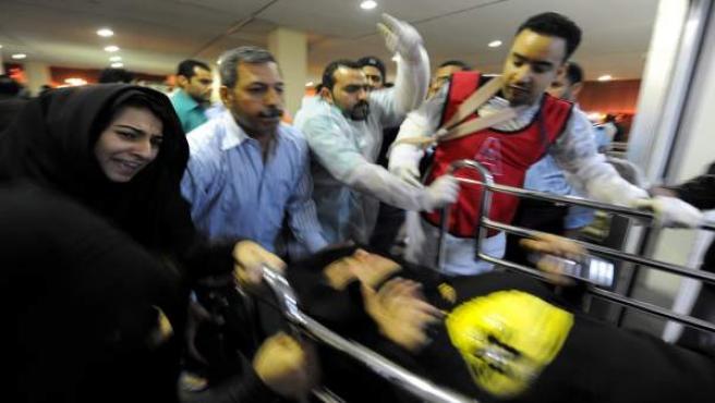 Heridos en la manifestación de Bahréin.