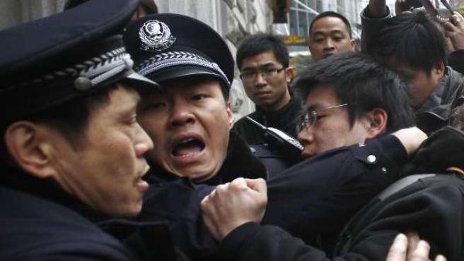 Protestas en Shanghái.