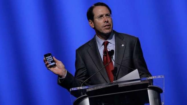 Randall Stephenson, presidente ejecutivo de AT&T, en su intervención ante el World Mobile Congress.