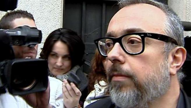 Álex de la Iglesia, a su llegada a la Academia de Cine.