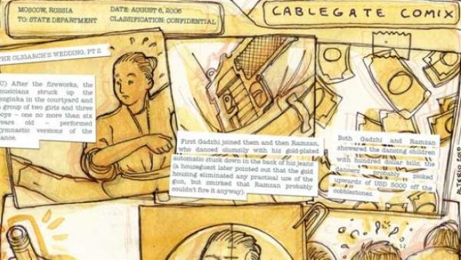 Una de las historietas de las 'Cablegate Chronicles'.