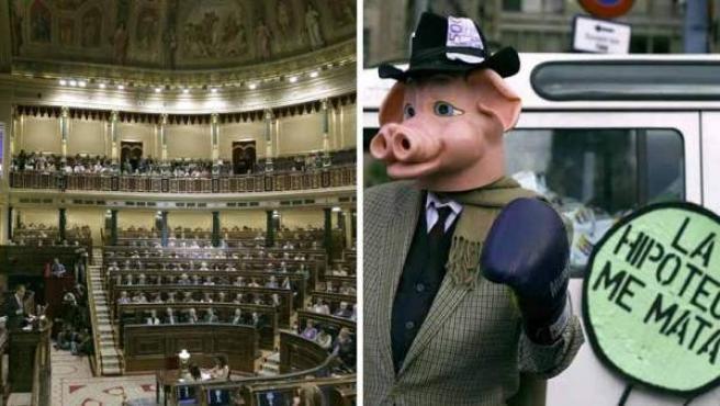 No era la primera que el Congreso discutía la entrega del piso para saldar la hipoteca.