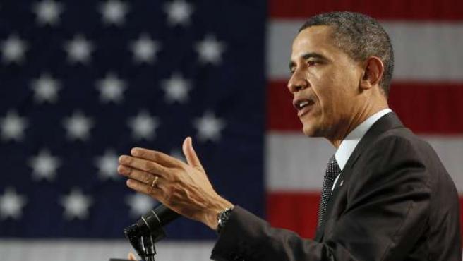 El presidente de los Estados Unidos Barak Obama en una rueda de prensa.