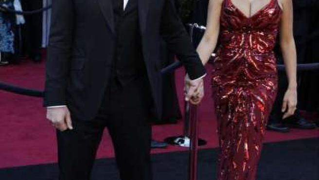 Javier Bardem y Penélope Cruz, juntos en la alfombra roja.