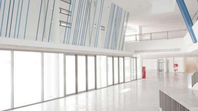 Interior de la nueva Biblioteca General y Filmoteca de Navarra.