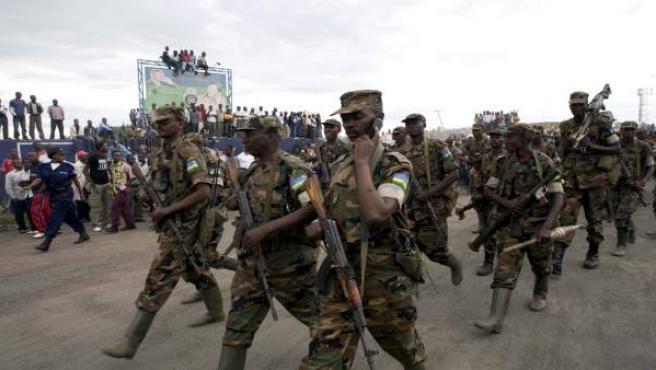 Soldados del Ejército ruandés, en una imagen de 2009.
