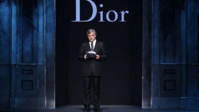 Sidney Toledano, durante el desfile de Dior en París.