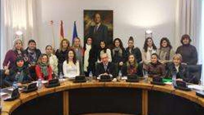 Palacio recibe a estudiantes