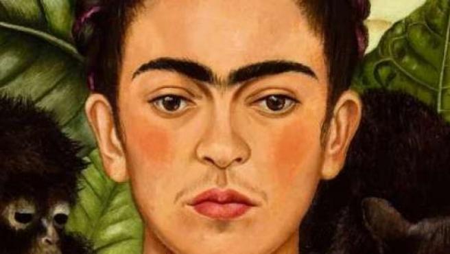 Autorretrato de la pintora mexicana Frida Kahlo.