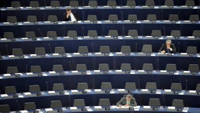 Aspecto del hemiciclo del Parlamento europeo durante una sesión plenaria.