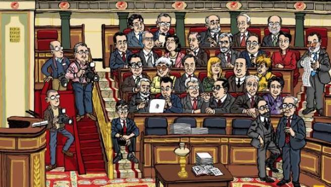 Caricatura de la página web 'Socialistas del Congreso'.