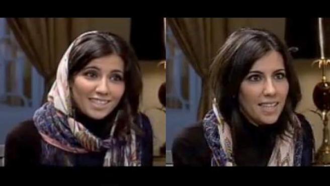 Ana Pastor se quitó el pañuelo que cubría su cabeza durante la entrevista con el presidente iraní.