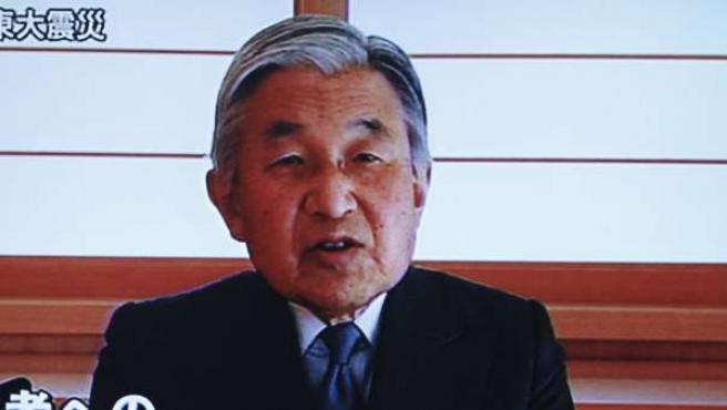 Mensaje televisivo del emperador Akihito, cinco días después del terremoto.