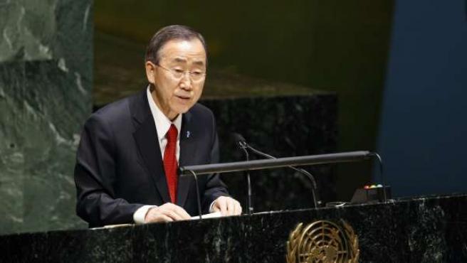 Ban Ki Moon, en la sede de la ONU.