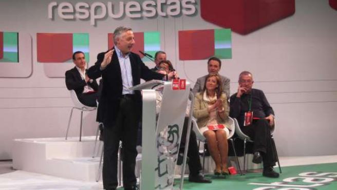 Blanco durante su intervención en la Convención Municipal