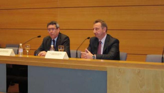 El consejero de Empleo, Manuel Recio, presenta los cursos del centro de formació