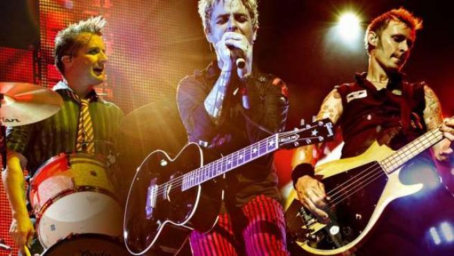 Los componentes de Green Day durante uno de sus últimos directos.