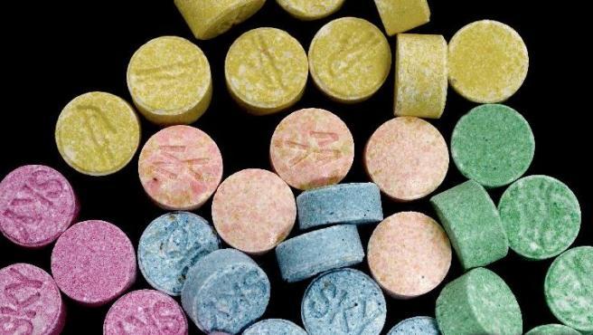 Pastillas de MDMA, sustancia también conocida como 'éxtasis'.