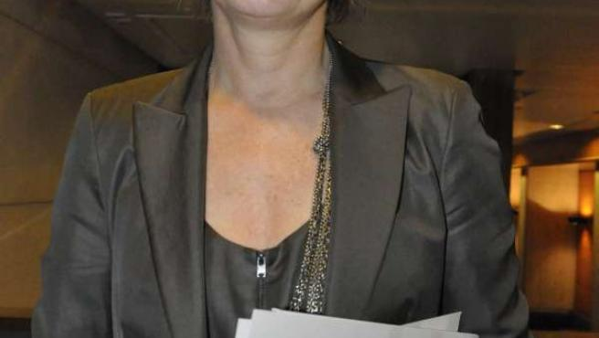 La presidenta de Chunta Aragonesista (CHA), Nieves Ibeas.