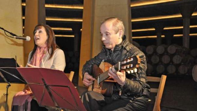 María José Cordero participó con su voz en el acto