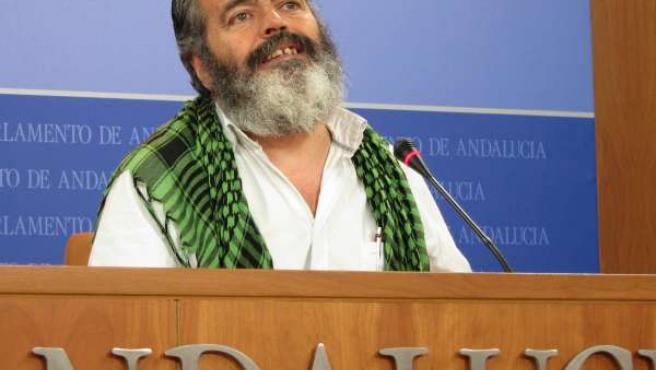 Juan Manuel Sánchez Gordillo, en rueda de prensa