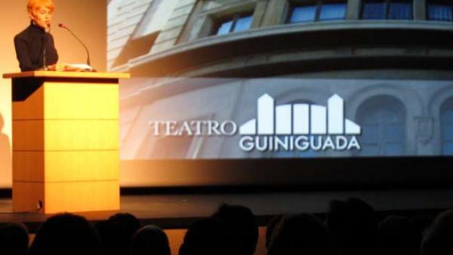 La actríz Antonia San Juan durante la lectura del Manifiesto por el Día Mundial
