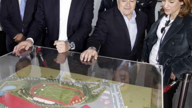 Francisco Camps y Alfonso Rus en Xàtiva