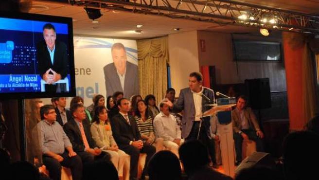El presidente del PP de Málaga, Elías Bendodo, en la presentación de la lista el