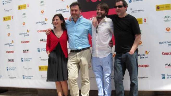 Malena Alterio, Max Lemcke, Fernando Tejero y Jorge Bosch en la presentación de