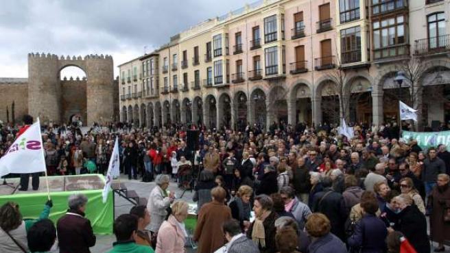 Concentración contra el aborto en Ávila
