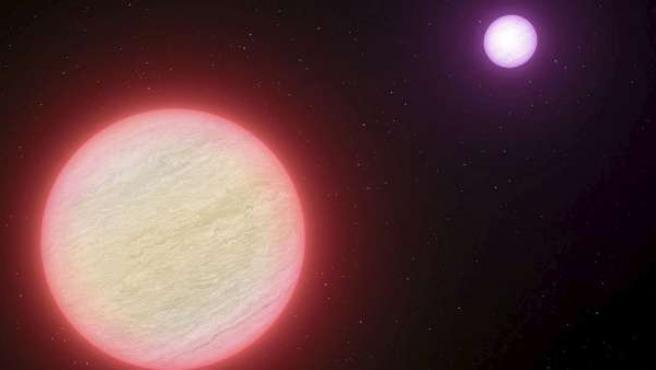 Recreación artística cedida por el Observatorio Europeo Austral (ESO) que muestra al sistema binario de estrellas enanas marrones más frío del universo.