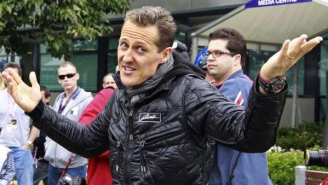 Schumacher se lamenta.